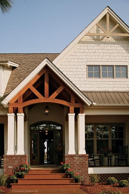 The cedar ridge plan 1125 d front porch craftsman for Craftsman gable