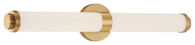 """Access Lighting Aqua 1-LT LED Vanity, Brushed Gold, 25.25"""""""