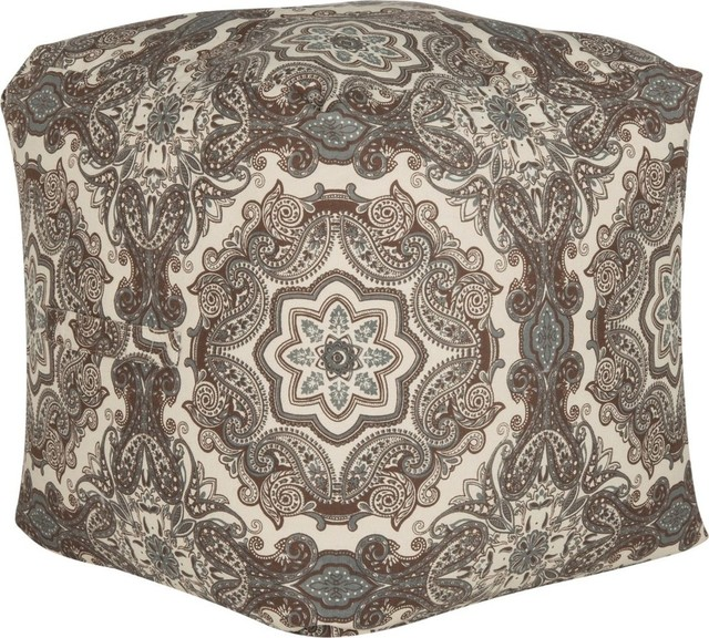 Safavieh - Coco Floral Pouf - View in Your Room! Houzz