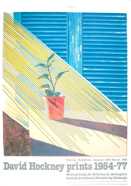 David Hockney Sun From The Weather Series 1981 Artwork