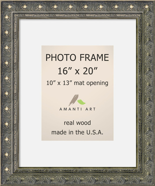 """Picture / Photo Frame 16""""x20 Matted to 10""""x13, Barcelona Champagne, 20""""x24"""""""