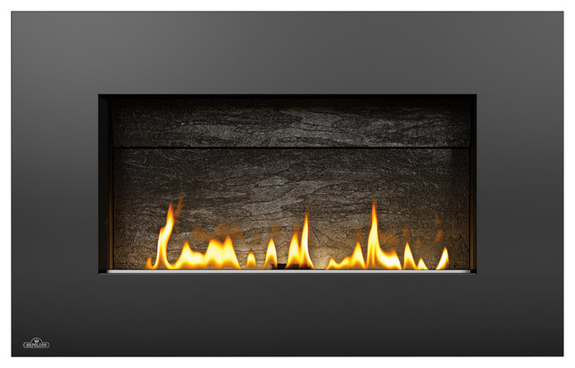 Napoleon plazmafire wall mounted ventless gas fireplace for Contemporary ventless fireplace