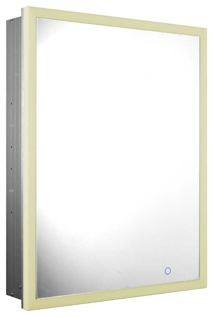 Whitehaus Whlun7055-Ir Recessed Single Door Cabinet With Adjustable Shelves.