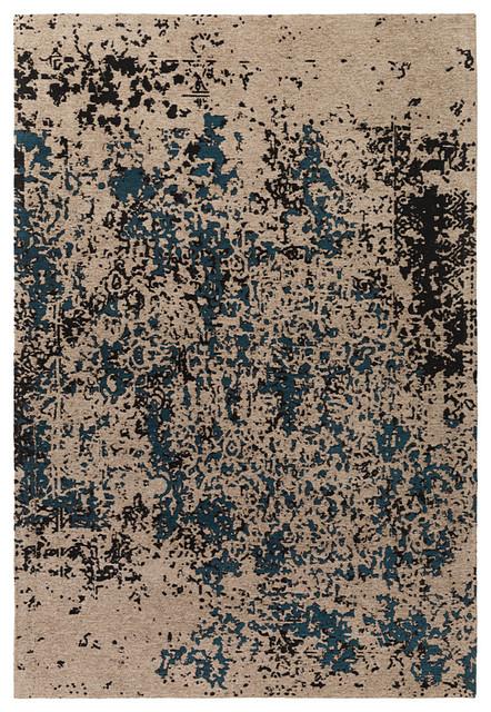 Buy area rugs kafra slu7630 teal navy blue area rug 2 39 x3 for Navy and teal rug