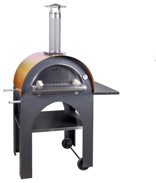 Pizza Oven Pul Mus Pulcinella Oven W/ Mustard Roof.