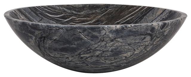 Novatto Lunar Marble Vessel Bathroom Sink.