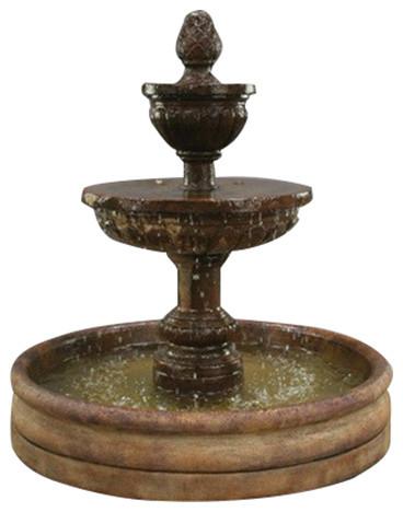 Mediterranean Garden Water Fountain With 46 Basin