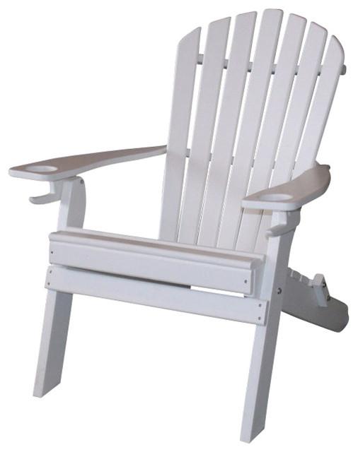 Poly Deluxe Folding 7, Slat Adirondack Chair, Aruba Blue Contemporary  Adirondack Chairs