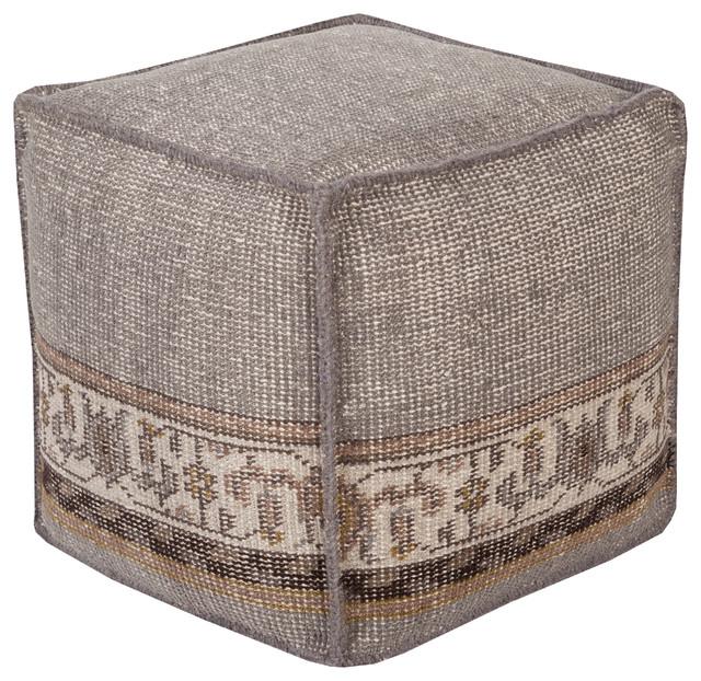 Zahara Cube Pouf, 18x18x18.