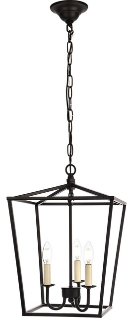 Maddox 3-Light Pendant Light, 12.5, Finish: Black.