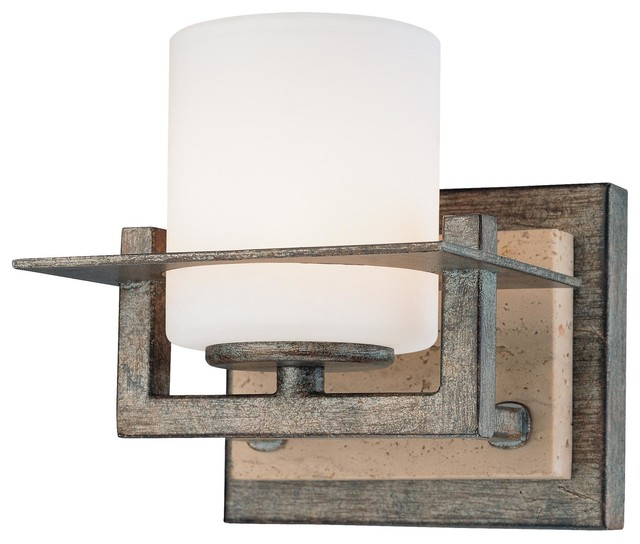 Transitional Bathroom Wall Sconces minka lavery 6461-273 compositions 1-light bathroom wall sconce