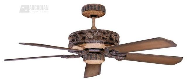 52 Ponderosa Ceiling Fan, Old World Leather.