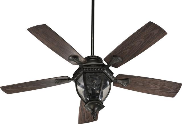 "Quorum International 145525-Cfl Baltic Patio 5 Blade 52"" 3 Outdoor Ceiling Fan."