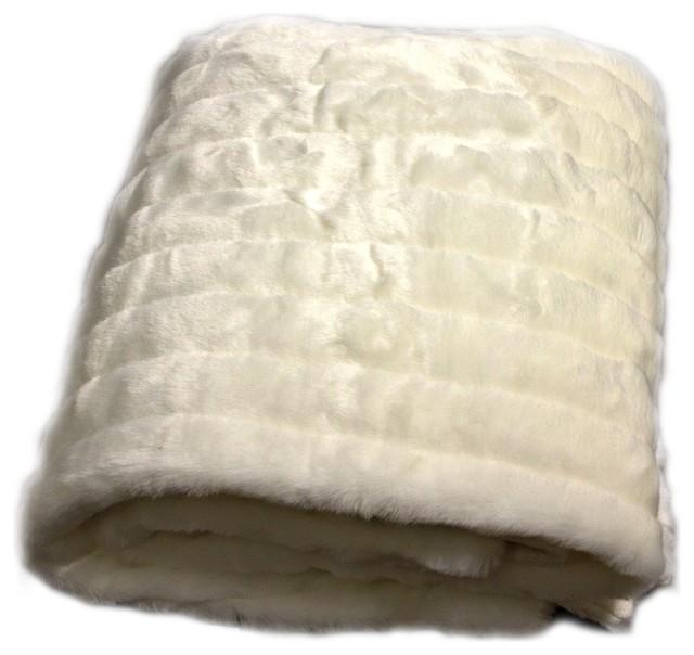 FUR ACCENTS Pink Minky Faux Fur Bedspread Throw Twin Size 60/'/' x 90/'/'