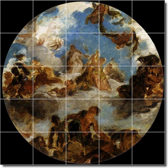 Eugene Delacroix Religious Painting Ceramic Tile Mural 12 Modern Tile Murals By Picture Tiles