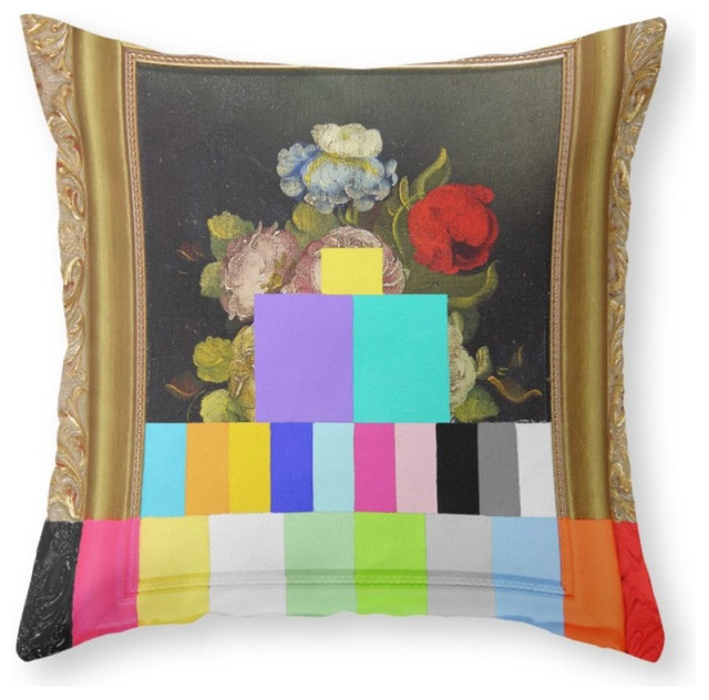 Society6 A Painting of Flow, Throw Pillow - Decorative Pillows - by Society6