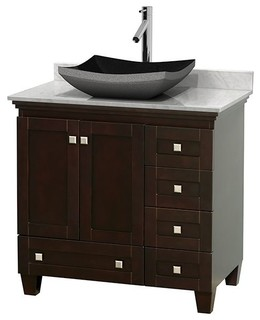 Acclaim 36 single vanity white carrera transitional for Z gallerie bathroom vanity
