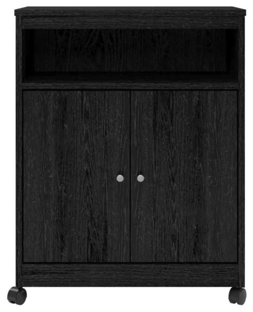 microwave cart storage cabinet black ebony ash kitchen distressed black modern rustic kitchen island cart