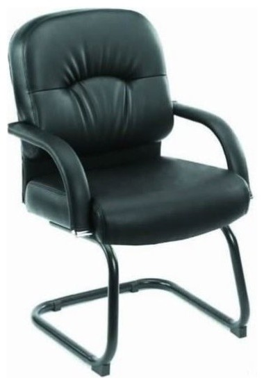 Boss Mid Back Caressoft Guest Chair, Black
