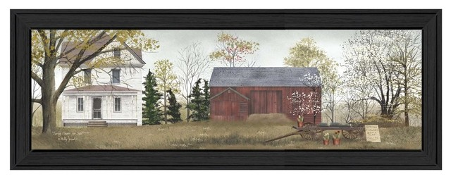 """""""spring Flowers For Sale"""" By Billy Jacobs, Printed Wall Art, Black Frame. -1"""