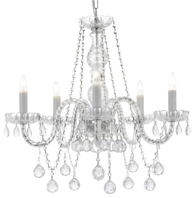 Yvette Crystal Chandelier: Gallery Authentic All Crystal Chandelier With
