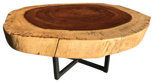 Live Edge Table Exotic Coffee Table Splitting with time