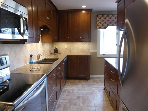 1960 S Small Galley Kitchen Remodeled Before And After