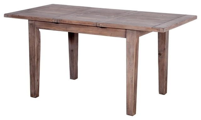 Small Extendable Dining Table Sundried Finish