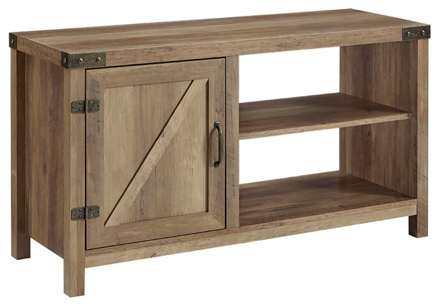 Walker Edison 44 Rustic Farmhouse Barn Door Console Rustic