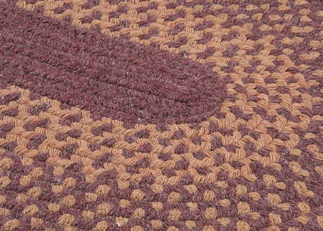 Colonial Mills Madison Braided Rug Roasted Brown.Braided Dark Plum Wool Rug 2 X10 Runner Madison Md94