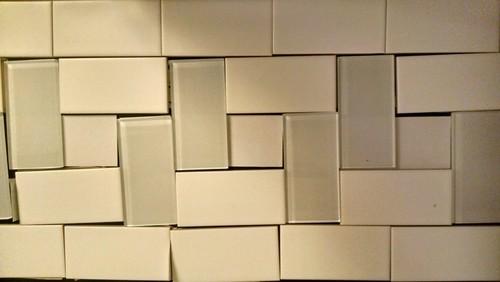 - Two Color Subway Tile Backsplash