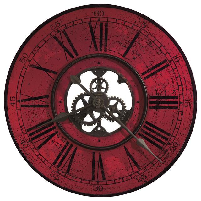 industrial wall clock canada amazon large metal miller ii clocks