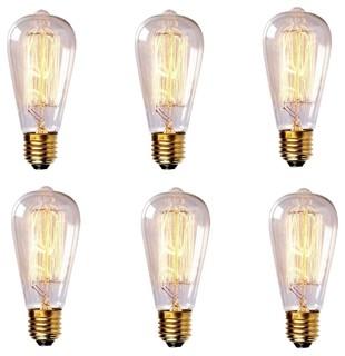 60 Watt Antique-Style Edison Light Bulb, Set of 6