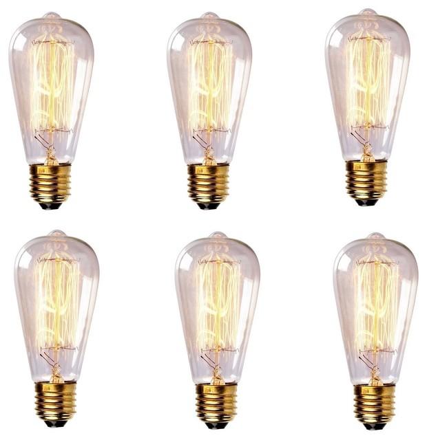 60 Watt Antique Style Edison Light Bulb Traditional Incandescent Bulbs By Lightingfair