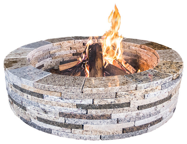 48 Quot Round Granite Fire Pit Rustic Blend 48 Quot Round