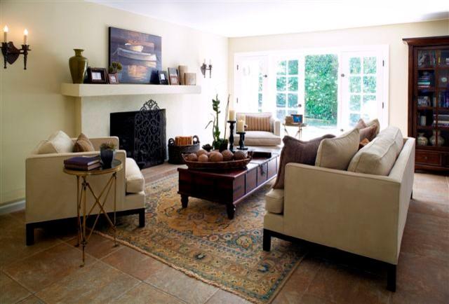 Tuscan Modern Mediterranean Living Room
