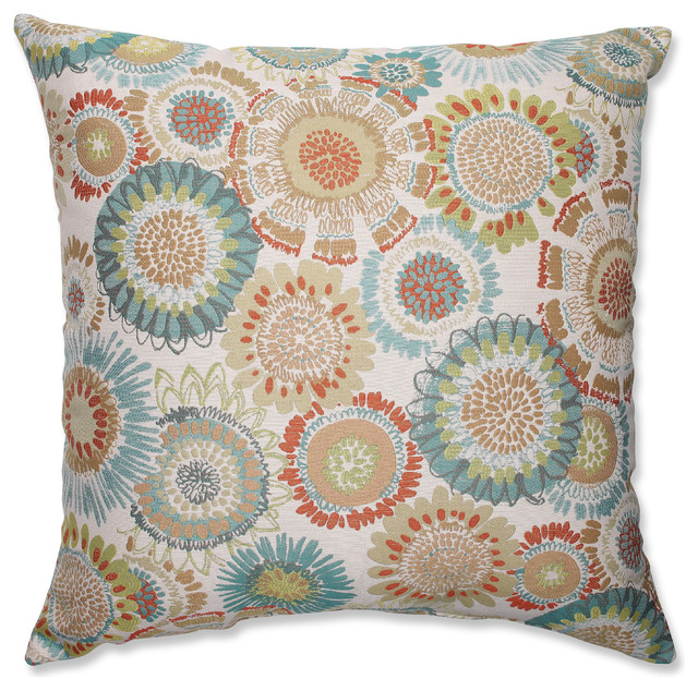 "Maggie Mae Aqua 24.5"" Floor Pillow."