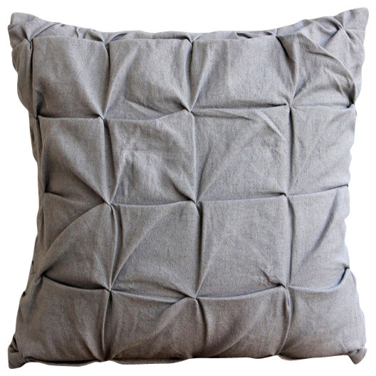 Gray Linen Texture Gray Cotton Linen Pillow Covers Contemporary Decorative Pillows By The Homecentric