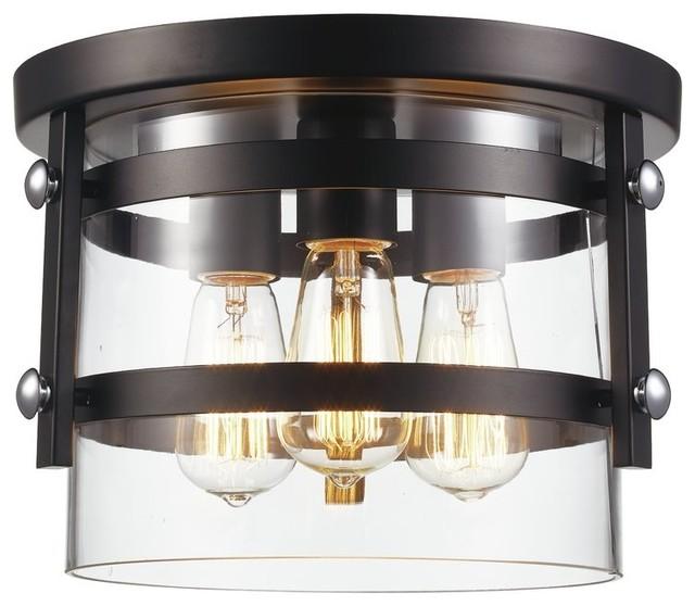 3-Light Semi Flush Mount, Dining/living Room Foyer Ceiling Light.