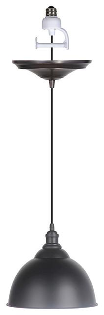 Instant Pendant 1-Light Matte Black Recessed Light Converter.