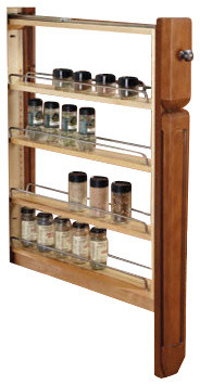 "Rev-A-Shelf 432-Bfbbsc-6c 6"" Wood Base Cabinet Pullout Filler Organizer."