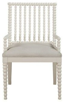 Spindle Arm Chair White Armchairs And Accent Chairs