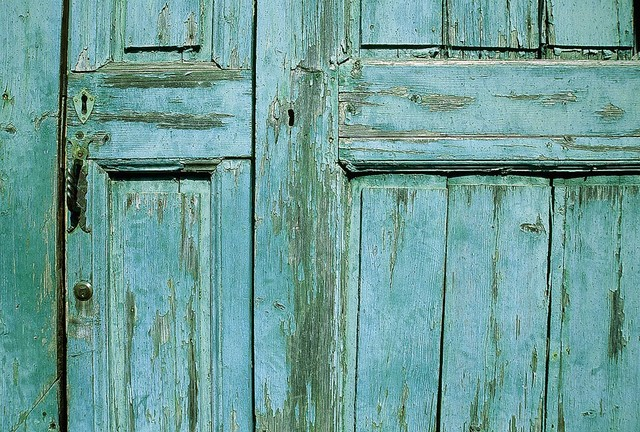 Old Wooden Door Detail Wallpaper Wall Mural Self