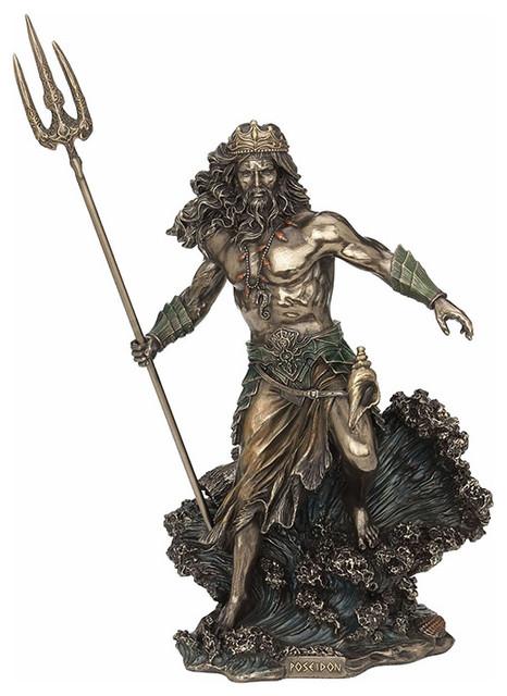 Poseidon God Of The Sea Cm Statue