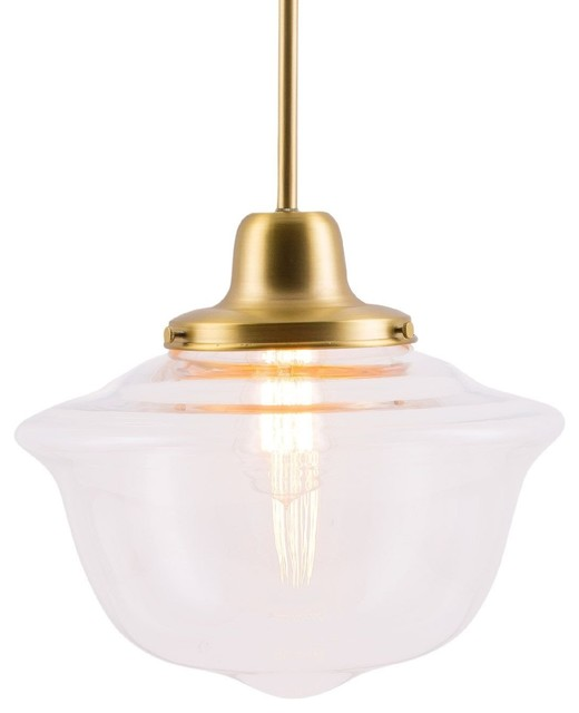 Lavagna Pendant Light With Bulb Brushed Br