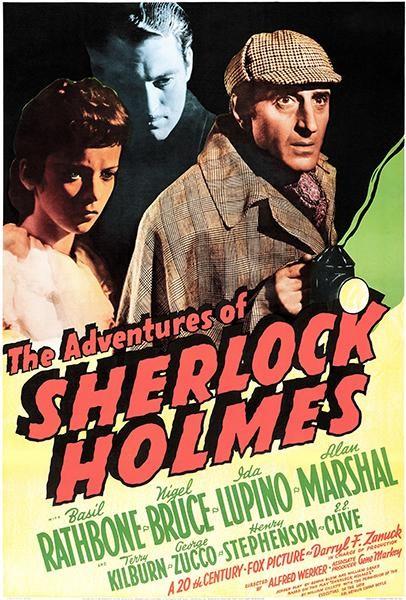 Vintage Sherlock Holmes Poster////Classic Movie Poster////Movie Poster////Poster Repri