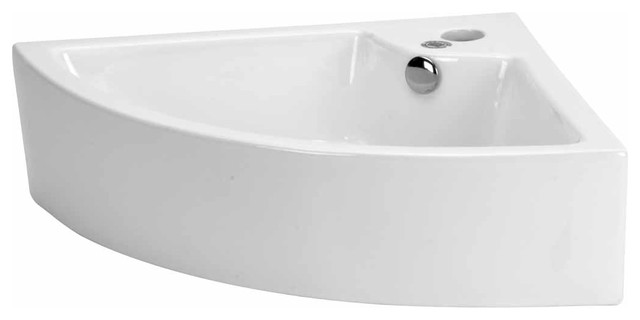 Small Bathroom Sinks Bone Vitreous China Angle Counter Top Sink – Tiny Bathroom Sinks