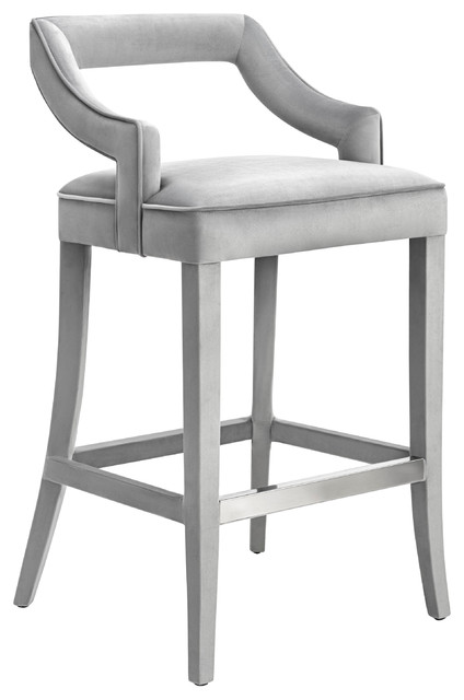 Tiffany Velvet Counter Stool Contemporary Bar Stools