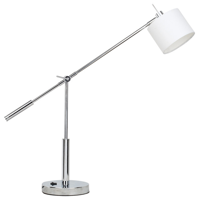 Jesco TLL901-CHWH Beatrice Led Table Lamp - 3-Prong Outlet on Lamp ...