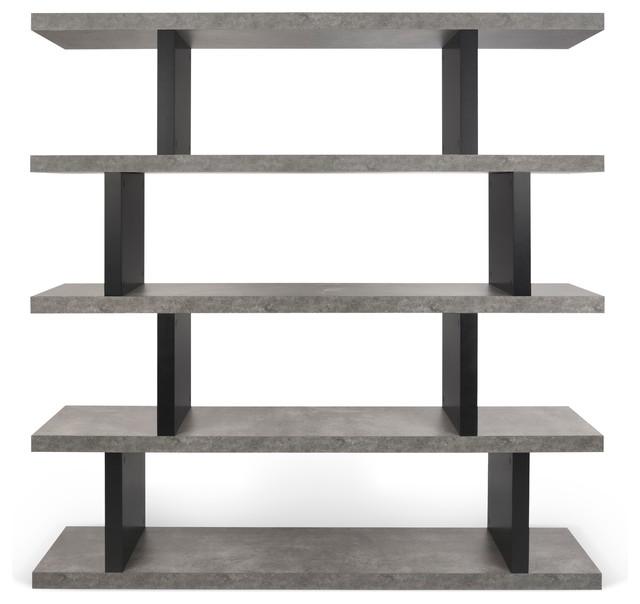 Tema Step High Concrete Look / Pure Black Shelving Unit